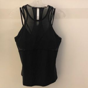 Lululemon black Fresh In Mesh Tank, sz 8, NWT